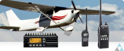 Atos radiocom propose des produits aéronautique VHF de la marque icom.